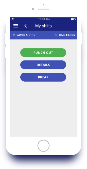 Punch In/Out Timesheet App screenshot